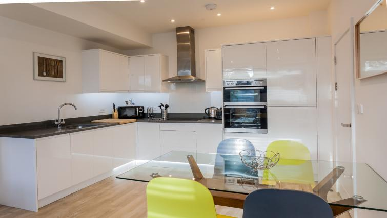 Equipped kitchen at Bury Fields House Apartments - Citybase Apartments