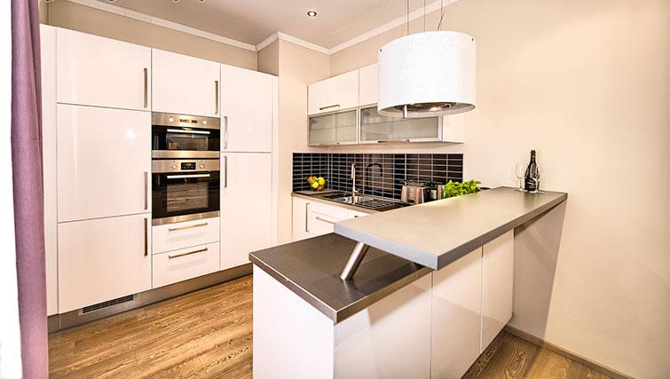 Equipped kitchen at Konvikt Apartment - Citybase Apartments