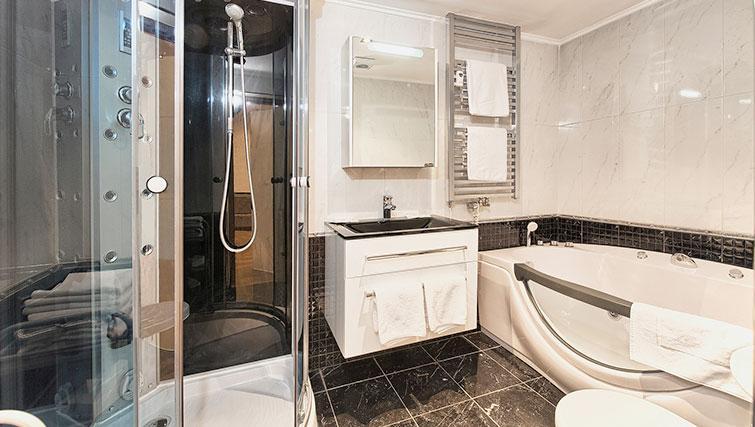 Bathroom at Konvikt Apartment - Citybase Apartments