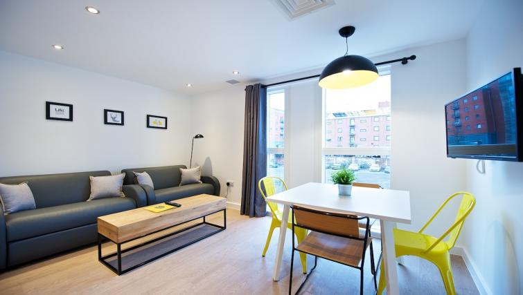 Living area at Staycity York Paragon Street - Citybase Apartments