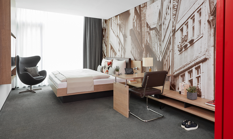 Bedroom at Living Hotel Frankfurt, Sachsenhausen, Frankfurt - Citybase Apartments