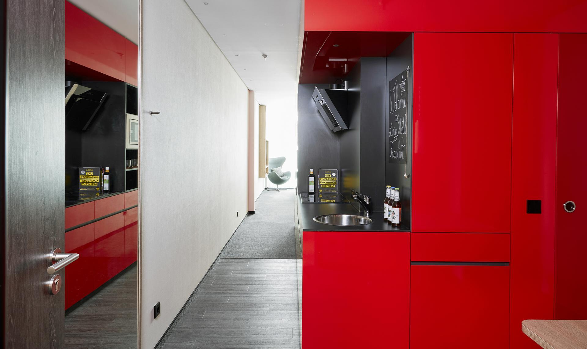 Kitchen at Living Hotel Frankfurt, Sachsenhausen, Frankfurt - Citybase Apartments