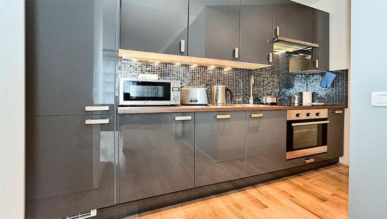 Equipped kitchen at Art Residence Krocinova - Citybase Apartments
