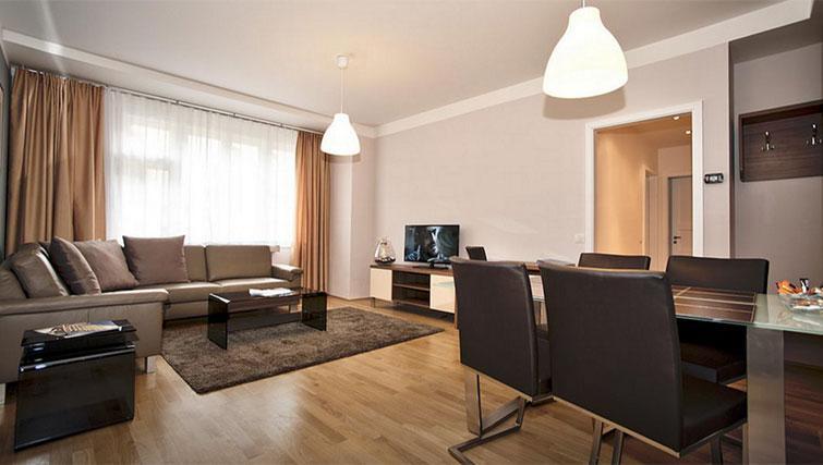 Living space at Art Residence Krocinova - Citybase Apartments