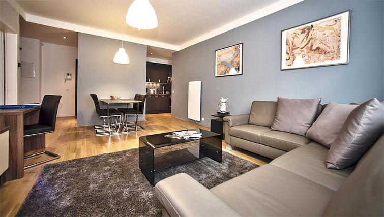 Living room at Art Residence Krocinova - Citybase Apartments