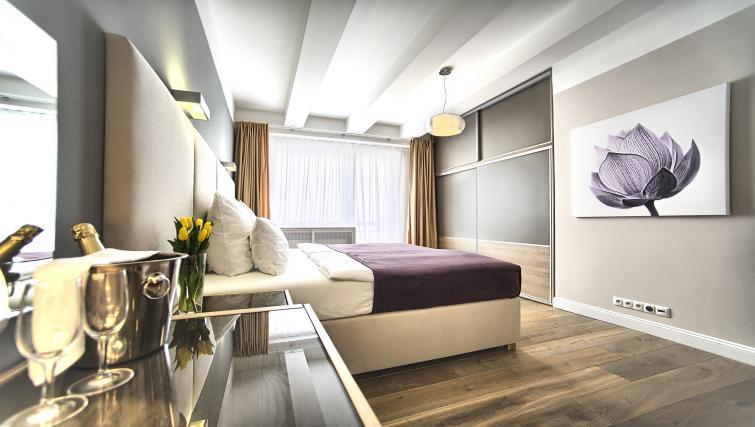 Spacious bedroom at Art Residence Krocinova - Citybase Apartments