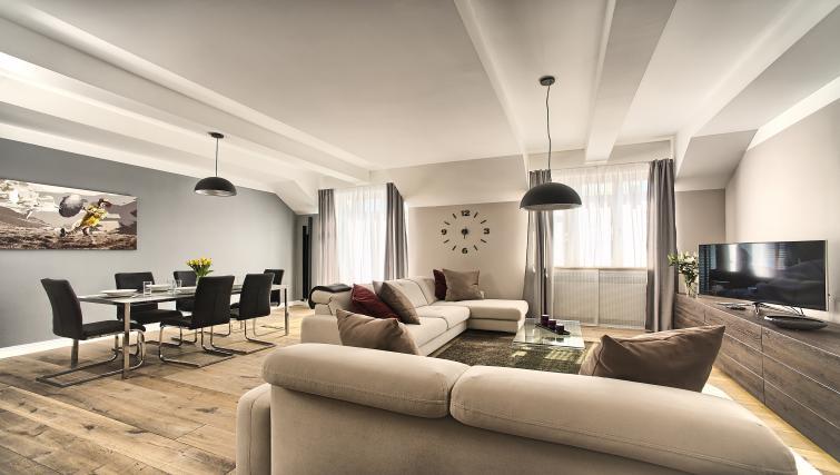 Living area at Art Residence Krocinova - Citybase Apartments