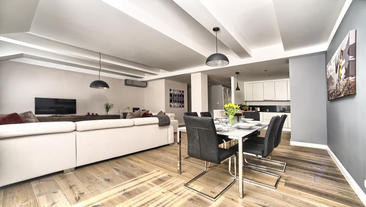 Modern living area at Art Residence Krocinova - Citybase Apartments