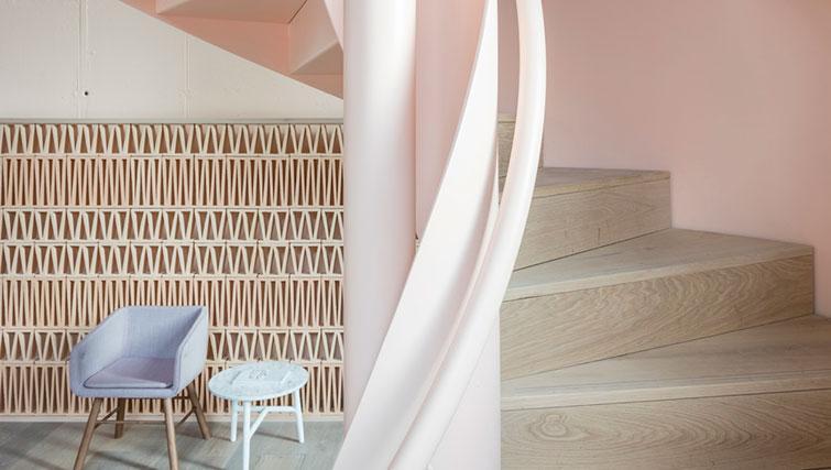 Stairs at SACO Leman Locke - Aldgate - Citybase Apartments