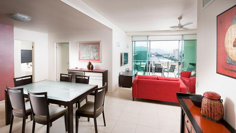 Living area in 3 bed at Mantra Trilogy - Citybase Apartments