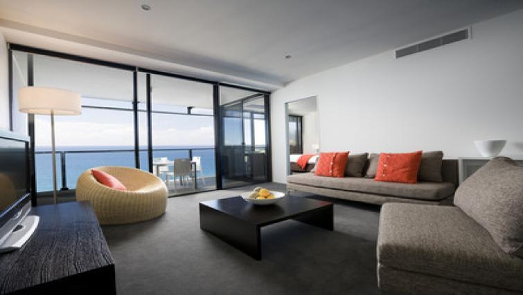 Stunning living area at Mantra Circle on Cavil - Citybase Apartments