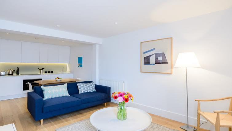 Living area at Native Fulham Apartments - Citybase Apartments