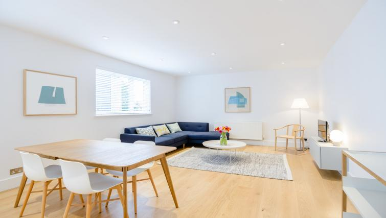 Living space at Native Fulham Apartments - Citybase Apartments