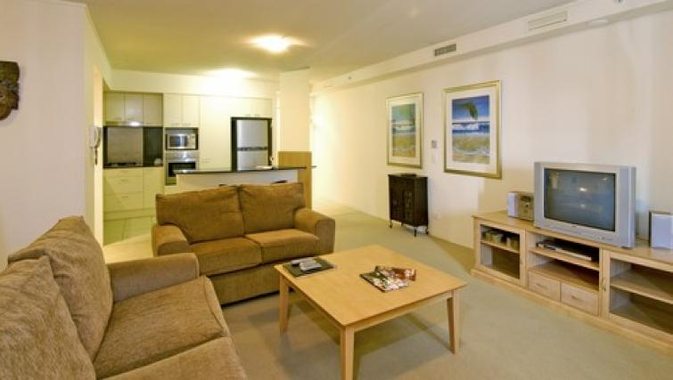 Comfortable living area at Mantra Broadbeach on the Park - Citybase Apartments