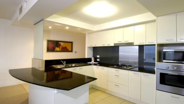Equipped kitchen at Mantra Broadbeach on the Park - Citybase Apartments