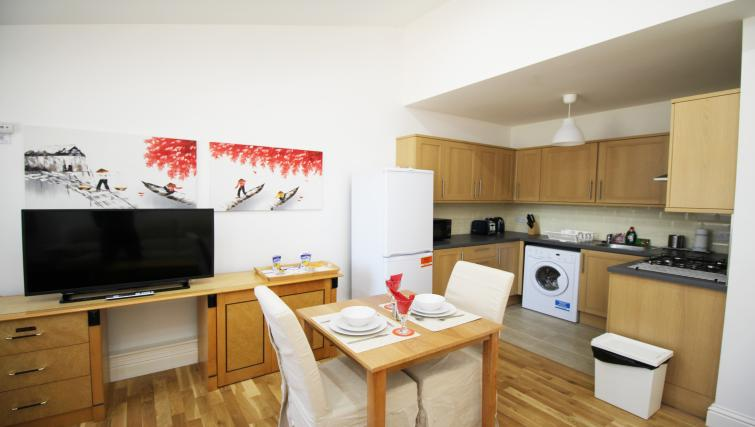 Open plan living area at Wellesley Apartments - Citybase Apartments