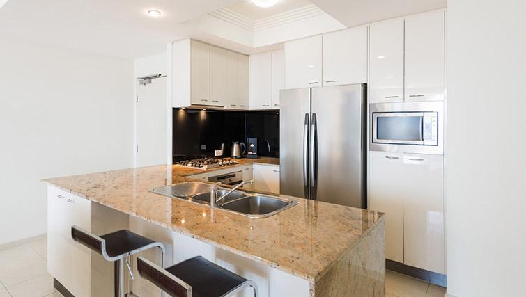Kitchen at Mantra on Mary - Citybase Apartments