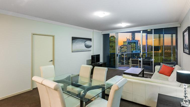 Living space at Mantra on Mary - Citybase Apartments