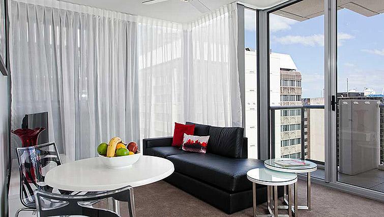 Living room at Mantra Midtown Brisbane Apartments - Citybase Apartments