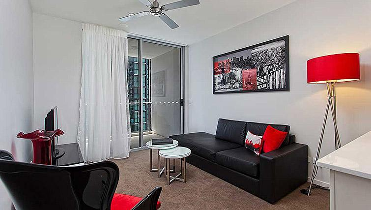 Cosy living area at Mantra Midtown Brisbane Apartments - Citybase Apartments