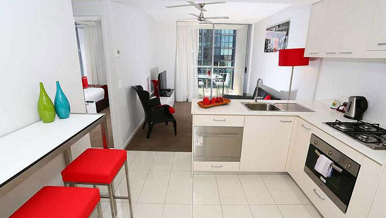 Equipped kitchen at Mantra Midtown Brisbane Apartments - Citybase Apartments