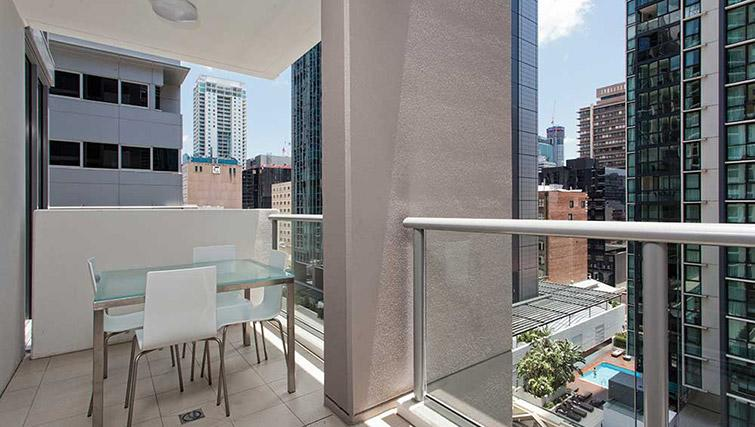 Balcony with views at Mantra Midtown Brisbane Apartments - Citybase Apartments