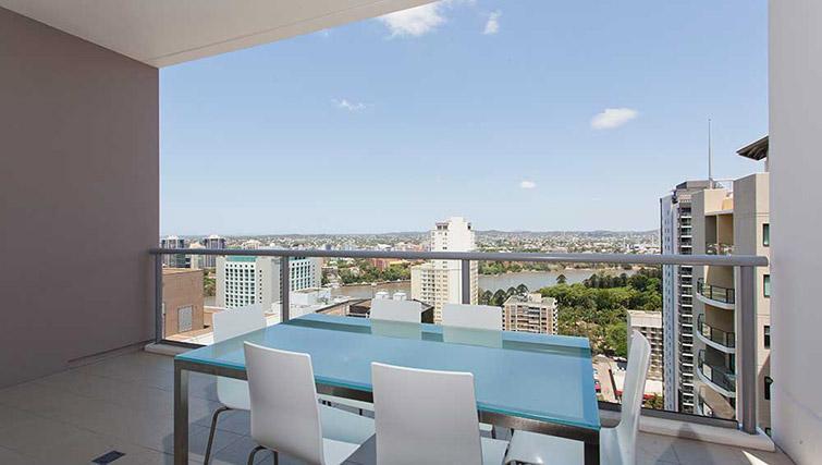 Balcony seating at Mantra Midtown Brisbane Apartments - Citybase Apartments