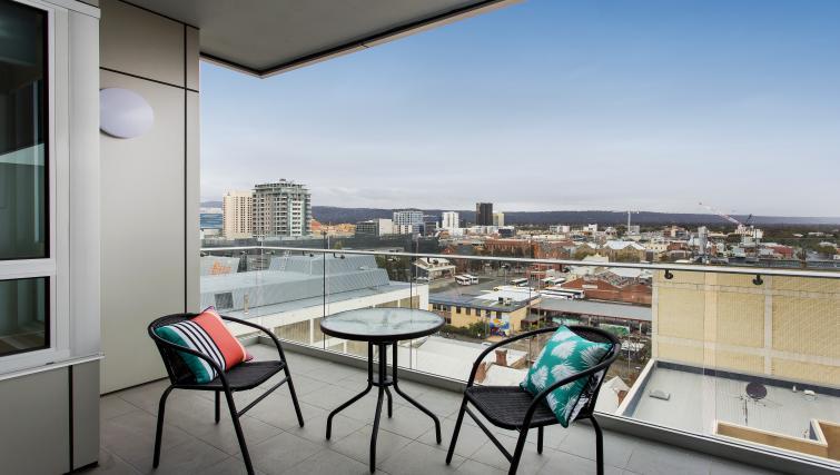 Balcony at Astra Apartments Adelaide Vision - Citybase Apartments