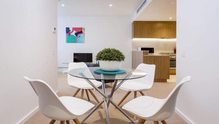 Dining area at Astra Apartments Adelaide Vision - Citybase Apartments