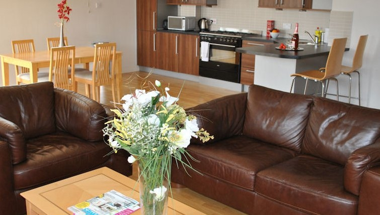 Simplistic living area in West Tollcross Apartments - Citybase Apartments