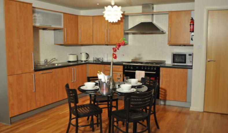 Kitchen diner at West Tollcross Apartments, Centre, Edinburgh - Citybase Apartments