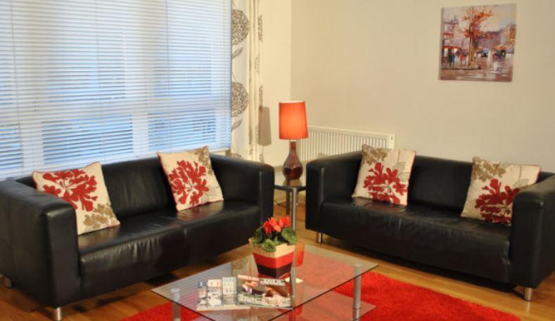 Sofas at West Tollcross Apartments, Centre, Edinburgh - Citybase Apartments