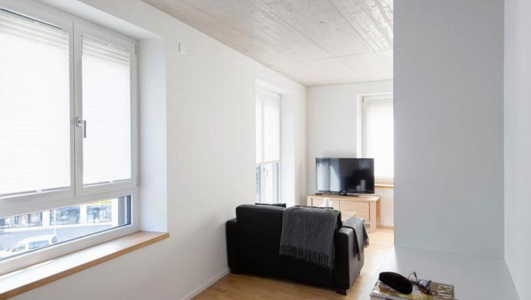 Living room at Kanzleistrasse Apartments - Citybase Apartments
