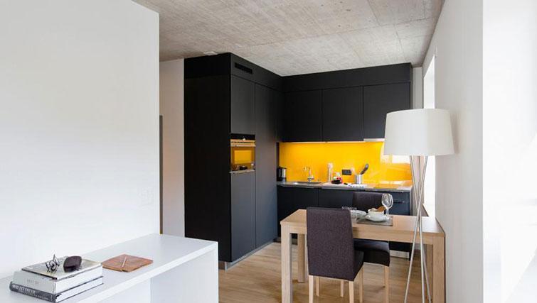 Kitchen at Kanzleistrasse Apartments - Citybase Apartments