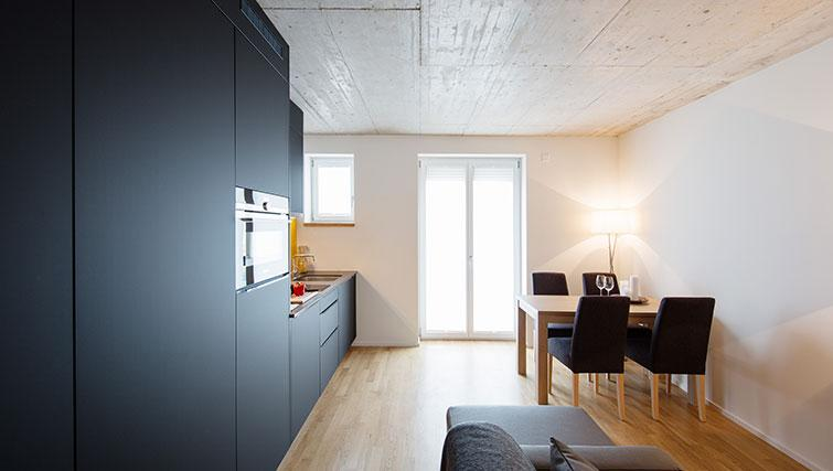 Equipped kitchen at Kanzleistrasse Apartments - Citybase Apartments