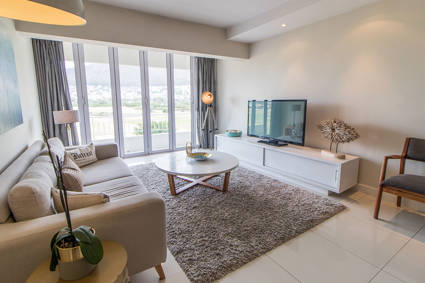 Living area at Mouille Point Village - Citybase Apartments