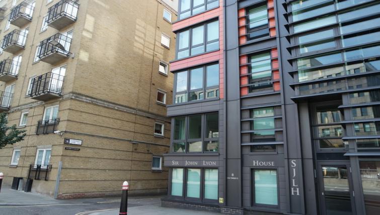 Exterior of Clarendon Sir John Lyon House - Citybase Apartments