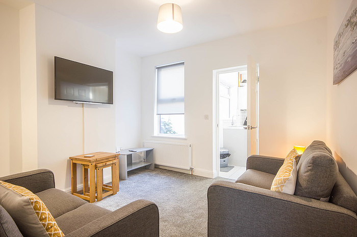 Living room at Riverside House Norwich - Citybase Apartments