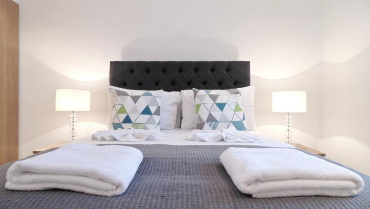 Double bedroom at Still Life Farringdon Executive - Citybase Apartments
