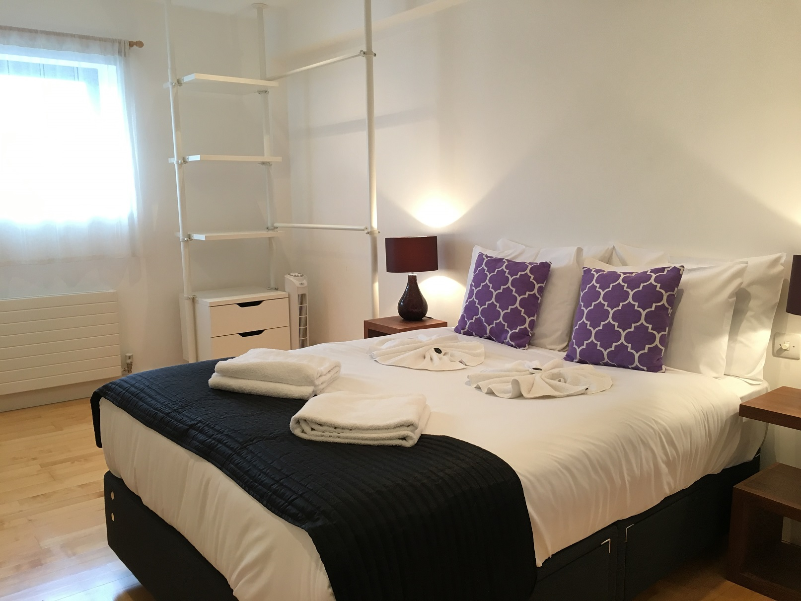 Double bed at Still Life Farringdon Executive - Citybase Apartments