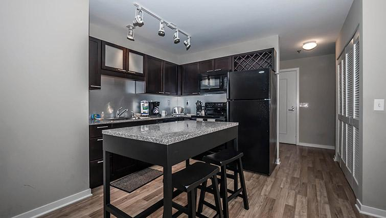 Kitchen at Randolph Tower Apartments - Citybase Apartments