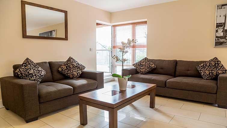 Living space at Pearse Street Suites - Citybase Apartments