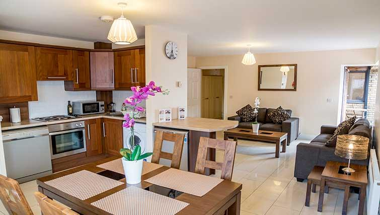 Dining area at Pearse Street Suites - Citybase Apartments