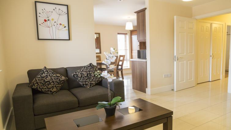 Living room at Pearse Street Suites - Citybase Apartments