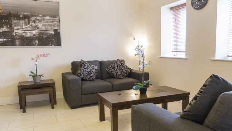 Living area at Pearse Street Suites - Citybase Apartments