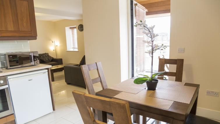 Dining table at Pearse Street Suites - Citybase Apartments