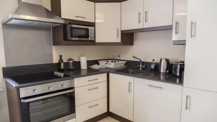 Kitchen at Five Lamps Suites - Citybase Apartments