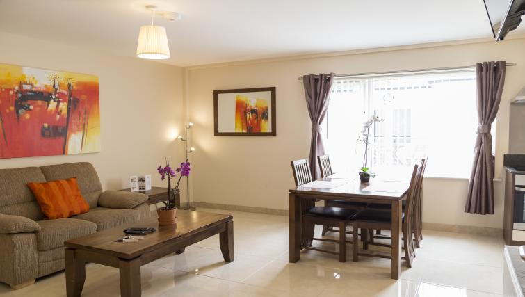 Living area at Five Lamps Suites - Citybase Apartments