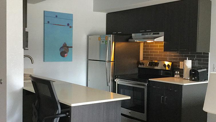 Kitchen at Hyatt House Boston-Burlington - Citybase Apartments