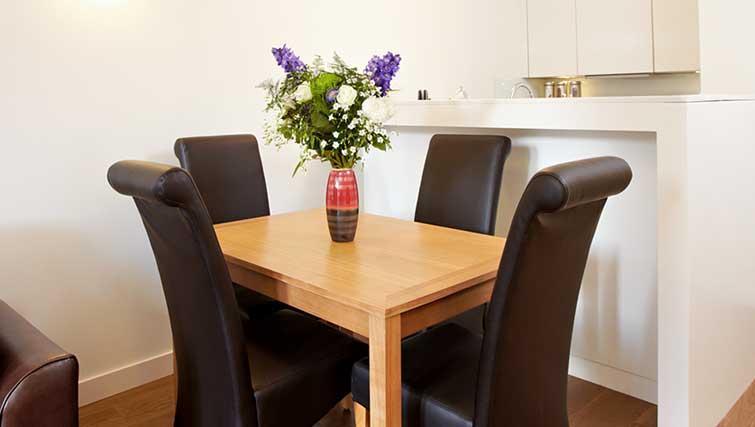 Dining table at London City Apartments - Citybase Apartments